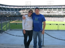 Jen and I enjoy US Cellular Field