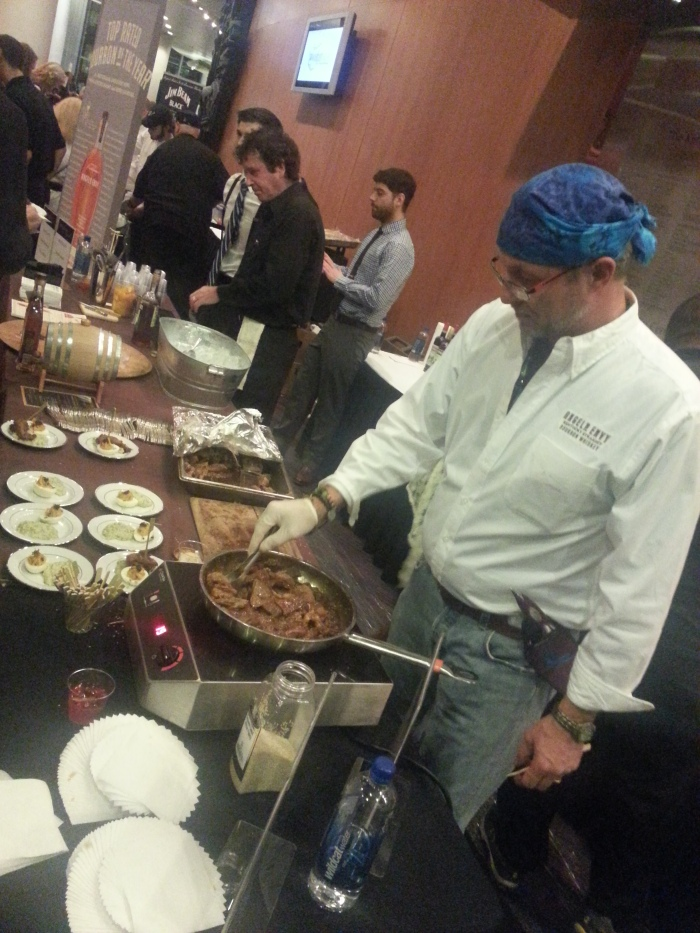 Chef Terry French at the Angel's Envy table