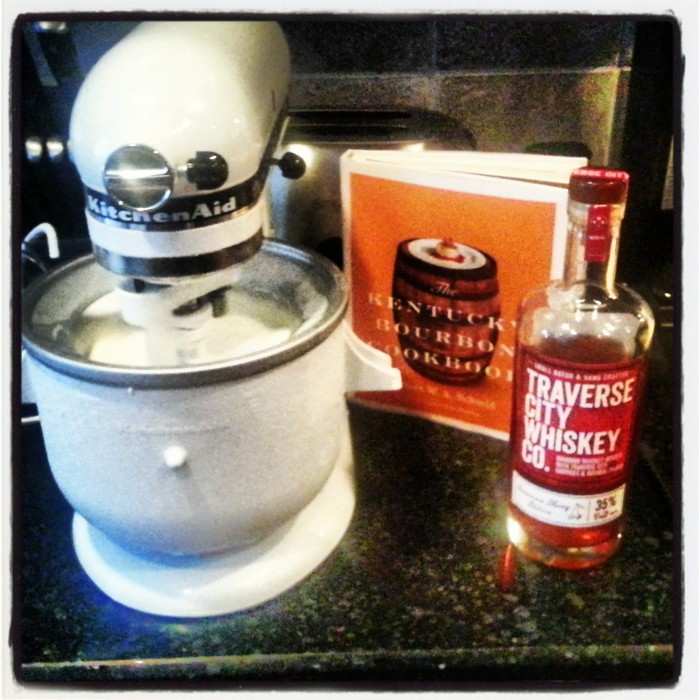 Making bourbon ice cream