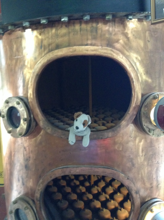 Up close and personal in a copper still