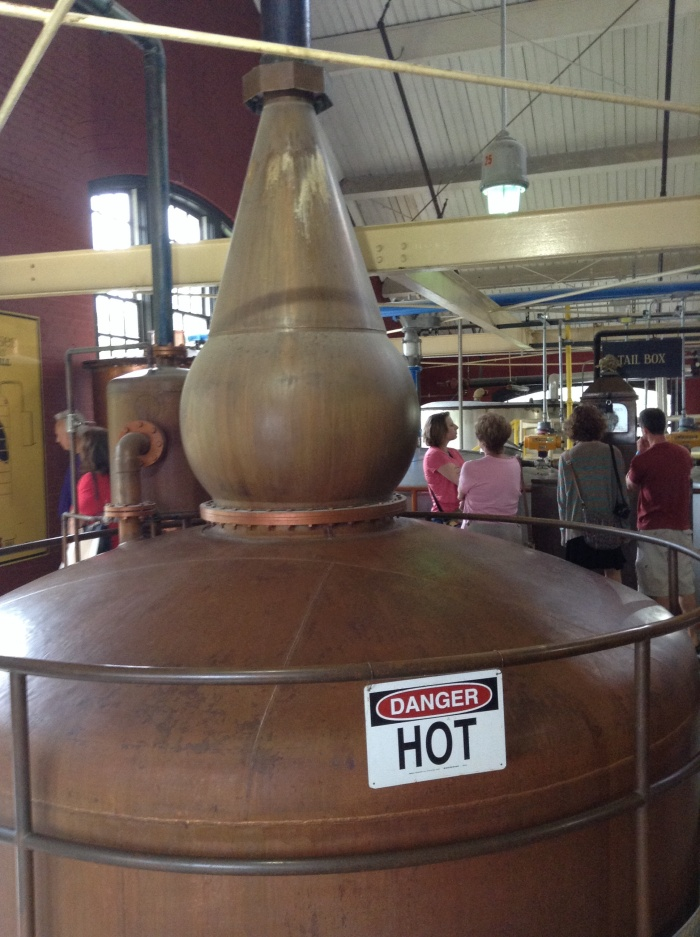Four Roses Copper Still at work