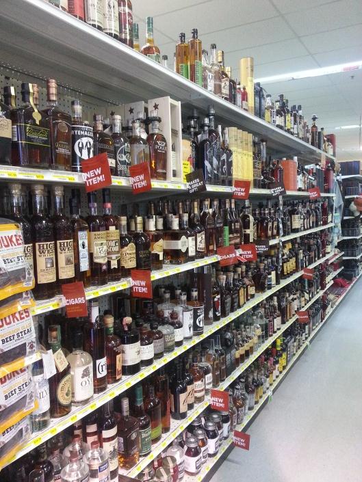 Bourbon Aisle at the Liquor Barn