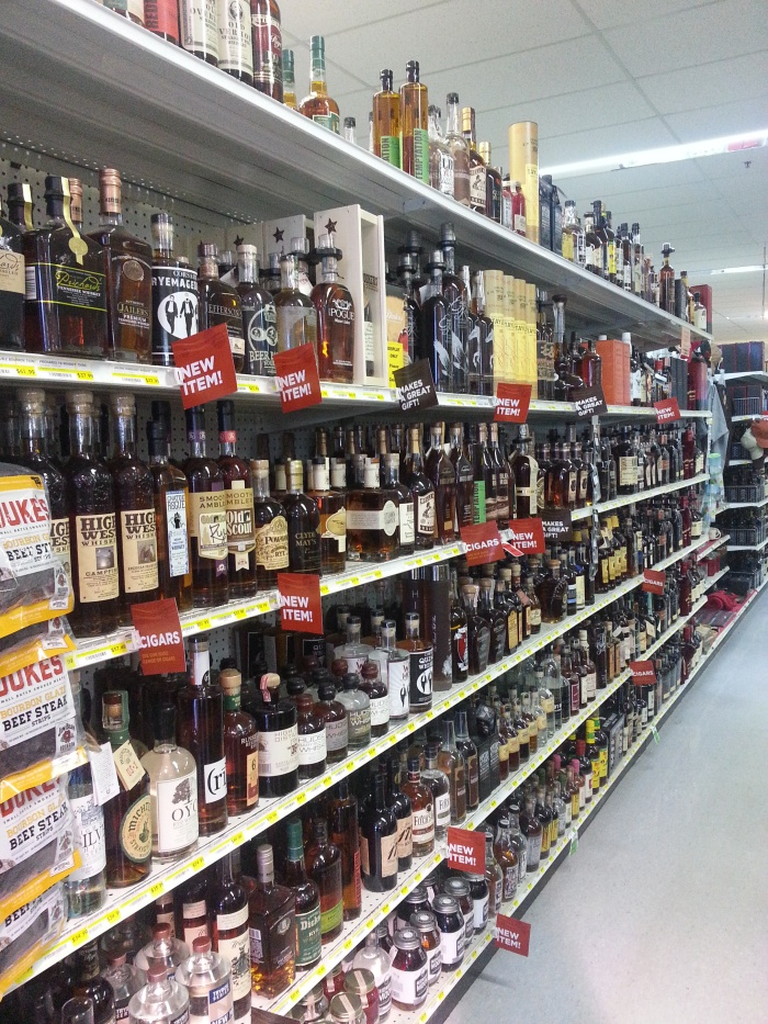 Bourbon Aisle at the Liquor Barn