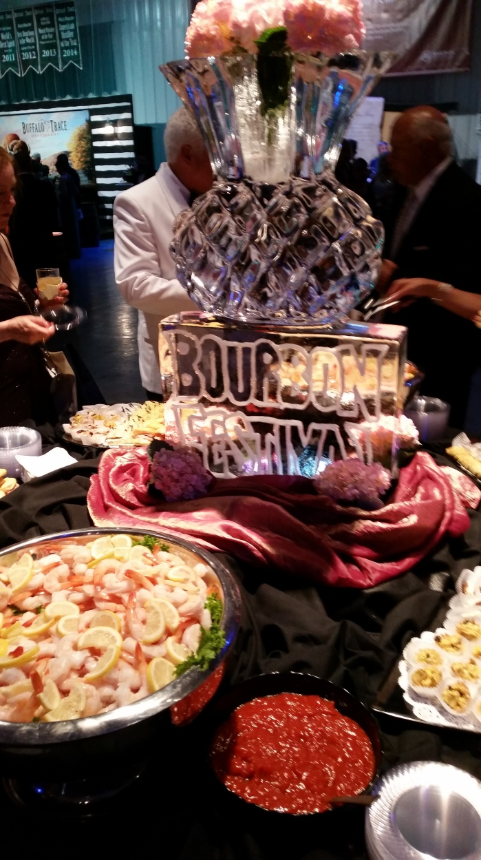 Bourbon Festival ice sculpture